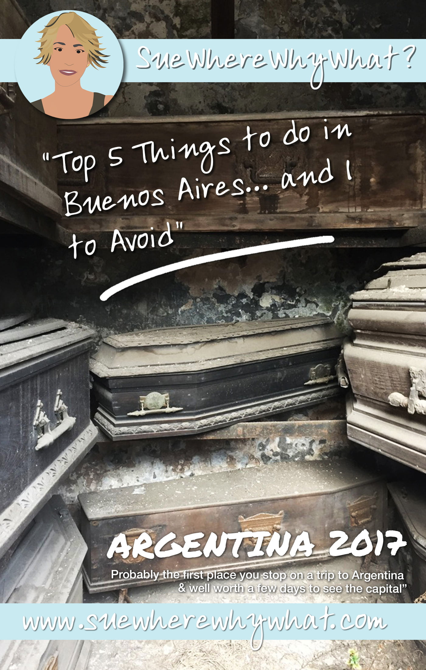 Top 5 Things to Do in Buenos Aires, Argentina (& 1 to avoid). Includes Walking Tours, Recoleta Cemetary, Eating in a Parilla, a Closed-Door Restaurant & watching a Tango Show. And avoid the open bus tour!  