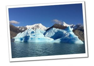 Icebergs and the stunning glacial backdrop, Estancia Christina, Patagonia, Argentina