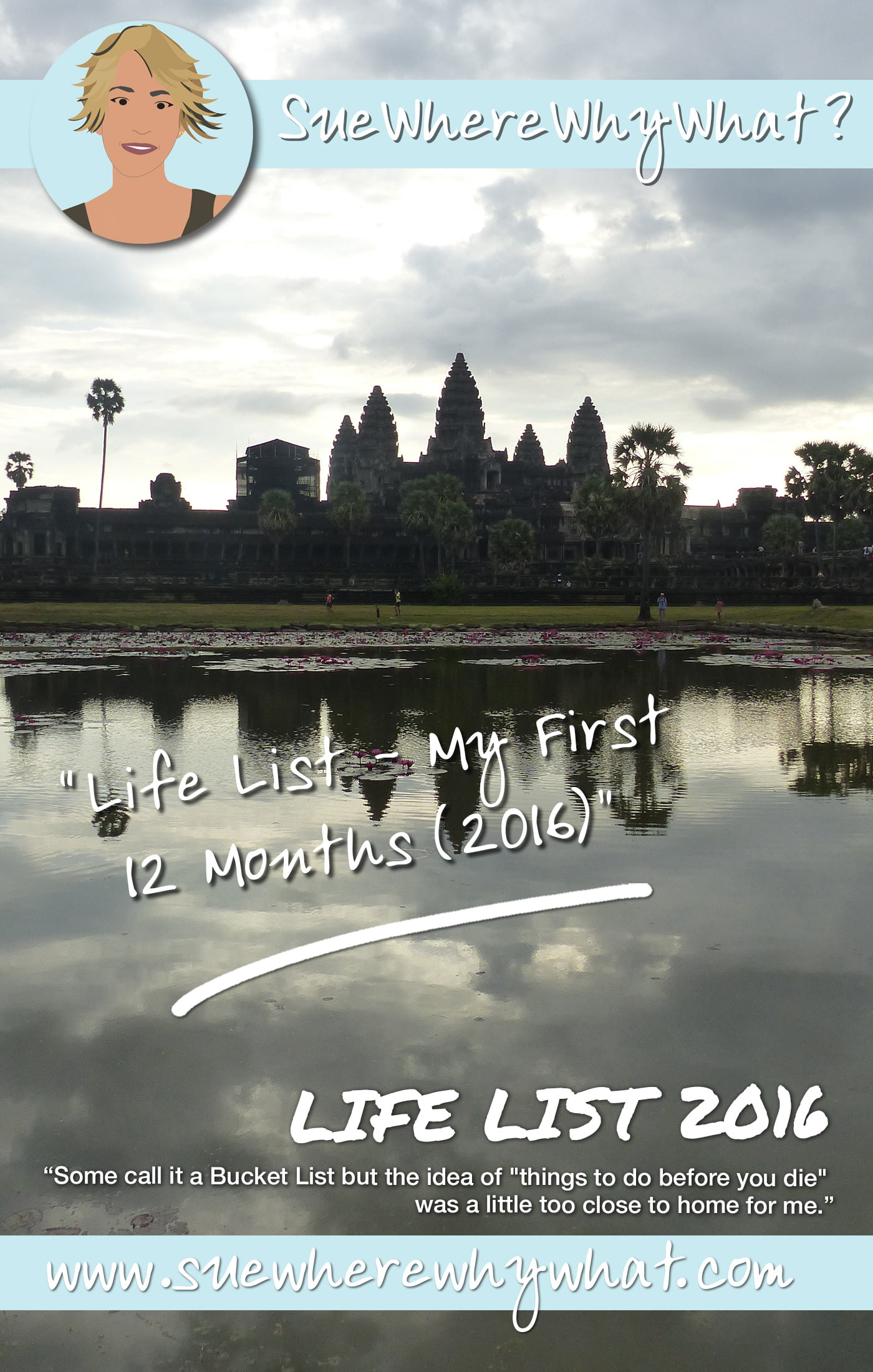 My Life List (Bucket List). What I ticked off in my first year - 2016. Ideas & Inspiration for Women looking for things to do before you die.