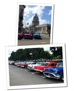 Cars in Central Havana, Cuba