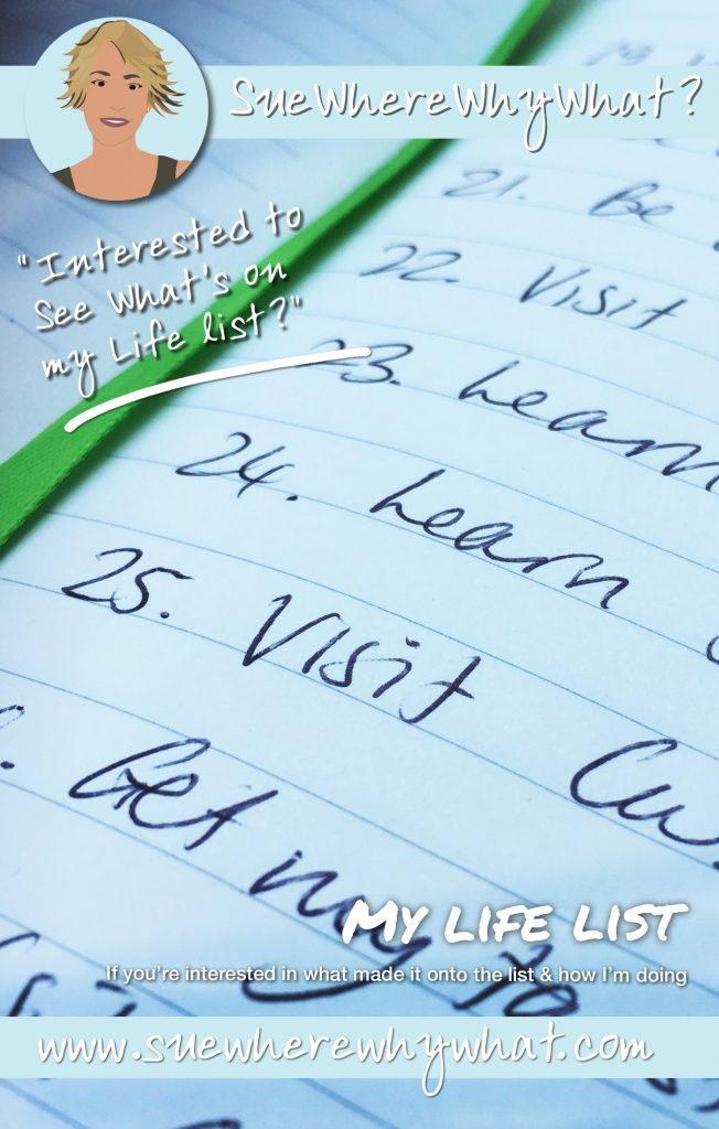A list written in a note pad