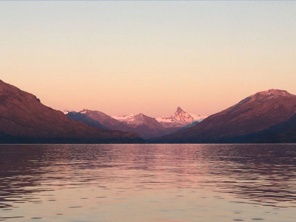 Sunrise at Upsala Glacier from Estancia Christina, Patagonia, Argentina