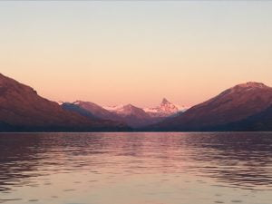 Sunrise at Upsala Glacier from Estancia Christina, Patagonia, Argentina