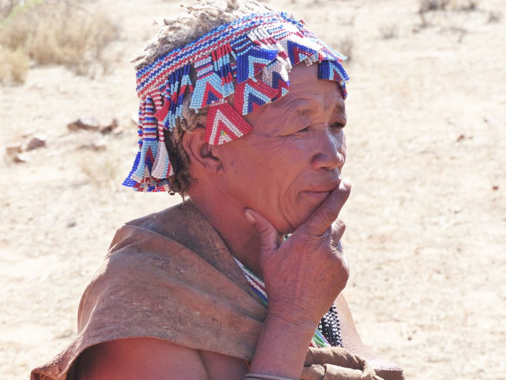 Woman from the San tribe, Namibia