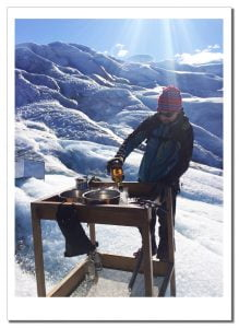 "Whiskey and ice at The ""bar"", Perito Moreno, Patagonia, Argentina"