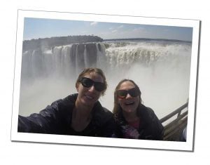 SWWW at the viewing platform, Devil's Throat, Iguazu Falls (Garganta del Diablo)