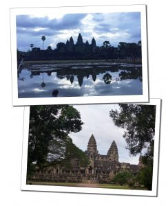 Cambodian Temple. Angkor Wat – obligatory for sunrise but don't expect to be alone!