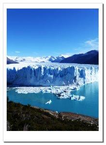 The blue Ice of the Perito Moreno Glacier, Patagonia, Argentina