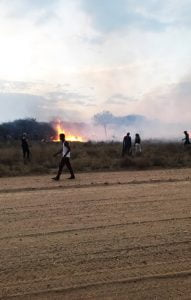 Namibia, Bushfire
