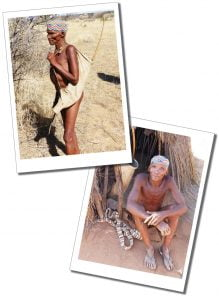 A San Bushman of The San Tribe, N/a'ankuse Wildlife Sanctuary, Windhoek, Namibia