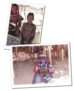 The Hereo tribe selling crafts on the Skeleton Coast & Swakopmund