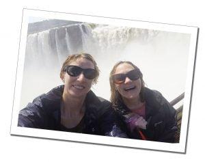 SueWhereWhyWhat & friend Iguazu Falls (El Diablo), Argentina Side