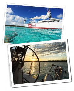 Red Hot Caribe, Sailing between Turks & Caicos Islands & on an ocean crossing from Florida to The Bahamas