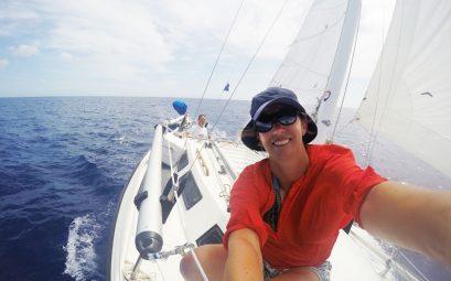 SueWhereWhyWhat on a yacht, bahamas