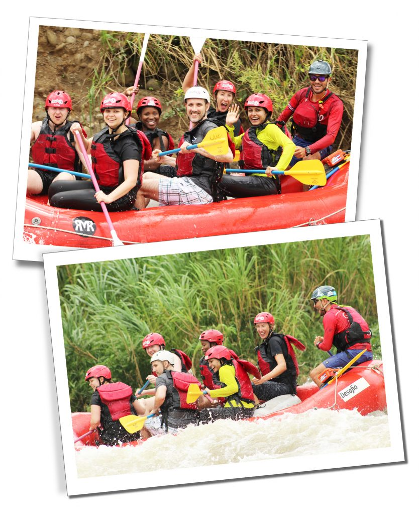 SueWhereWhyWhat on a white water rafting excursion with G Adventures, in Costa Rica