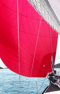 The Red Hot yacht, Spinnaker