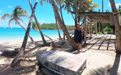 SuewhereWhyWhat on the beach, Antigua, Caribbean