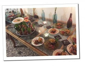 An amazing welcome buffet at Mhai Yoga with Retreat Insider, Viñales, Cuba