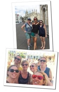 SueWhereWhyWhat with friends from Mhai Yoga on a day out in Havana, Cuba between classes