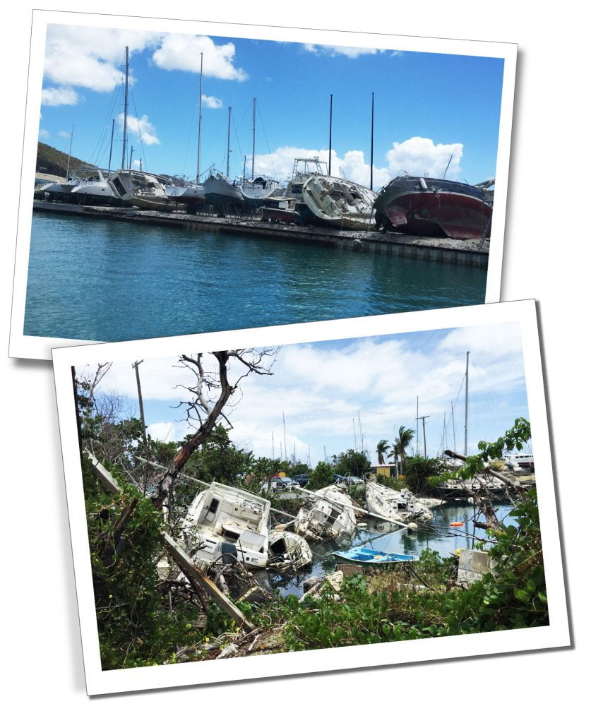 Scupperd and destroyed ships lay strewn across Nanny Quay, Bahamas, 6 Top Tips on Visiting An Area After a Hurricane