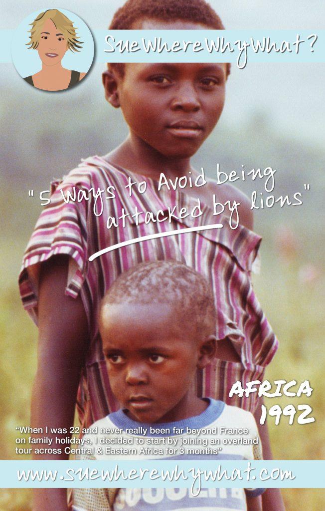 Two African Children on the Savana, Uganda, Africa