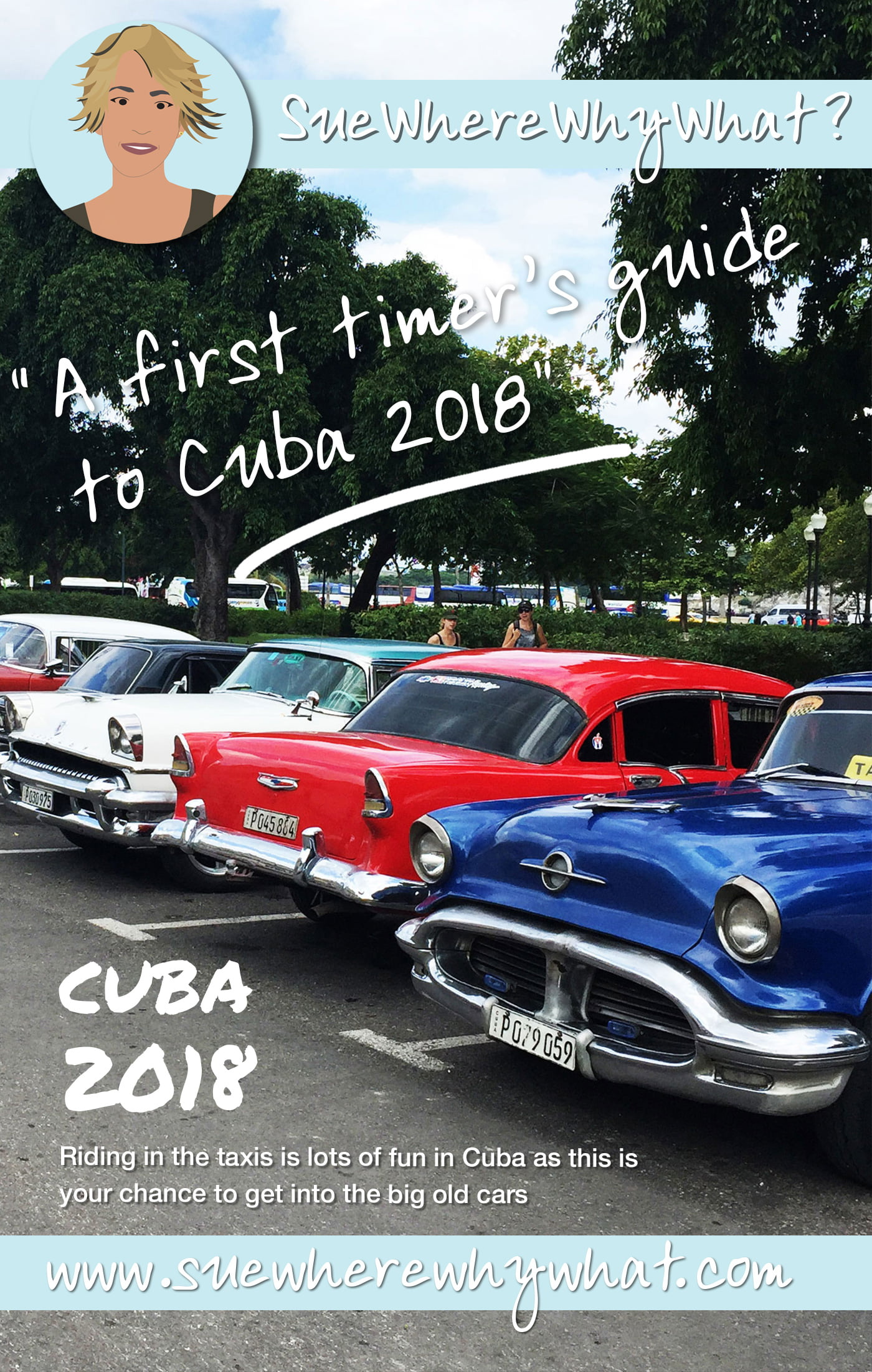 "I heard numerous times the phrase ""Anything is possible in Cuba"". I couldn\'t agree more! Everything you need to know as a first time travel to Cuba includes transport, accommodation, money, visa, what to expect & my experience in Havana.   https://www.suewherewhywhat.com/a-first-timers-guide-to-cuba-2018"