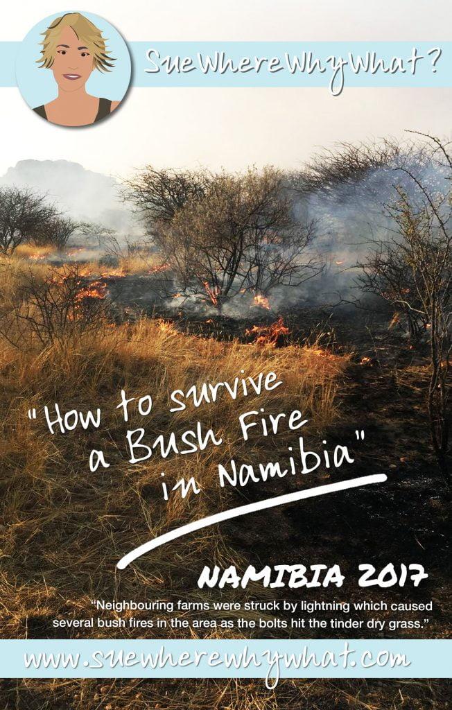 Bushfire in Namibia