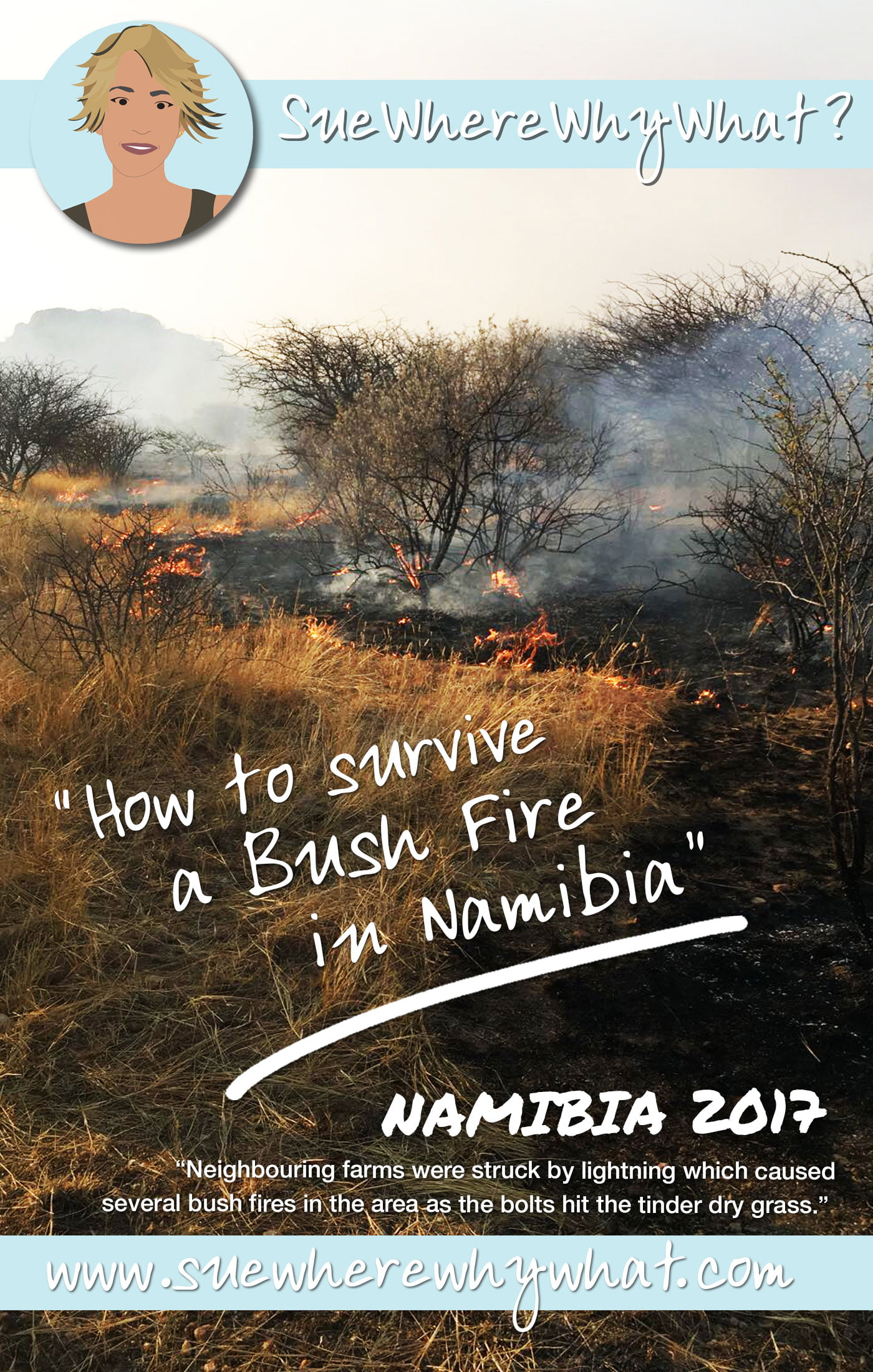 How to survive a bushfire in Namibia