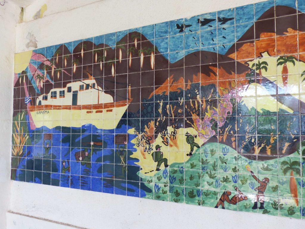 Tiled murals, Old Theatre, Cuba