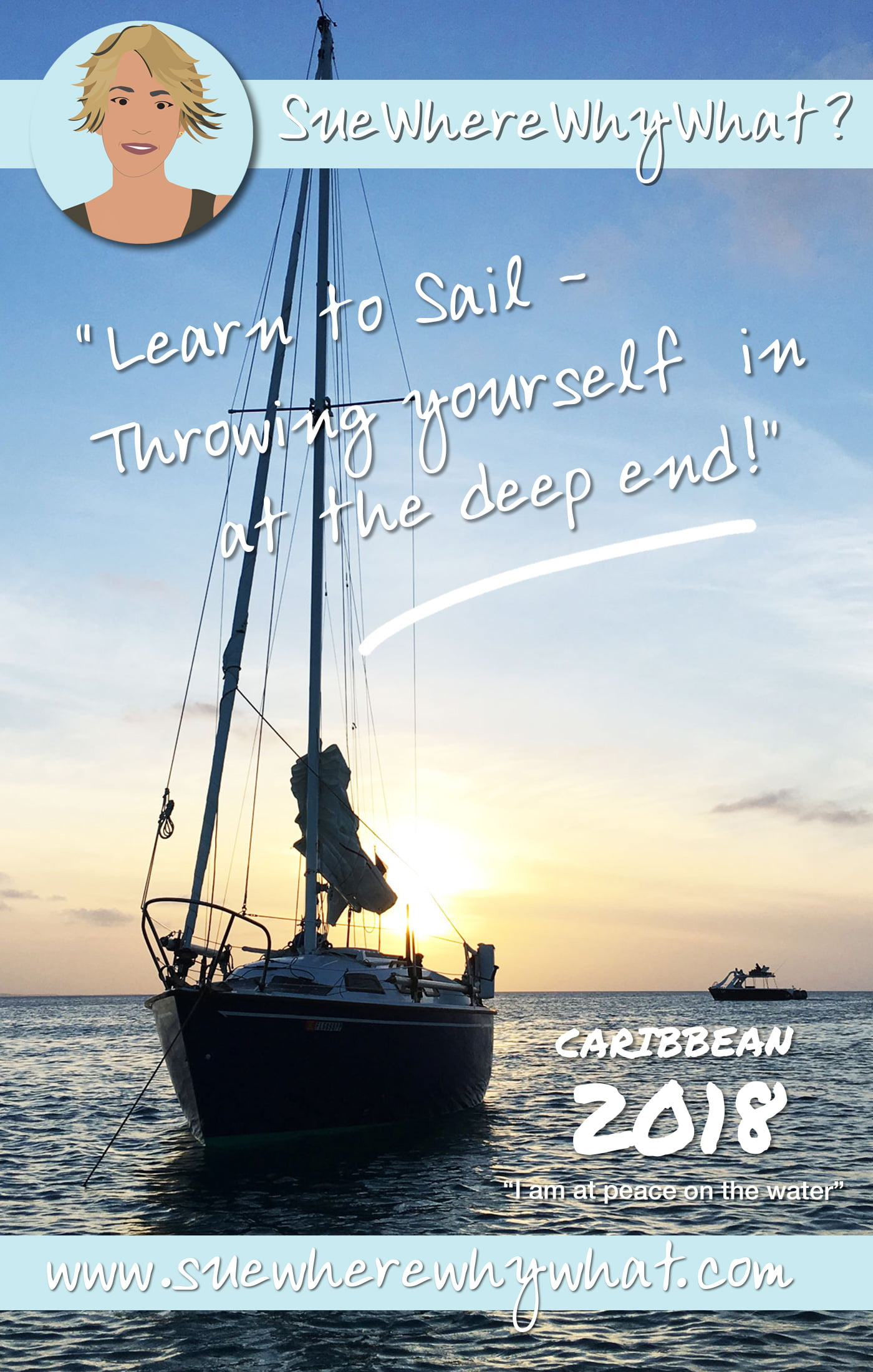 My top tips on how to (not!) learn to sail. Sharing my experiences from UK, Turks & Caicos Islands, Bahamas & beyond.  https://www.suewherewhywhat.com/destinations/central-america-and-caribbean/throw-deep-end-learning-sail