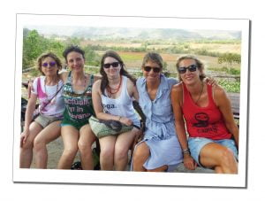 SuewhereWhyWhat & her Yoga Group, on a day trip to a farm Viñales, Cuba