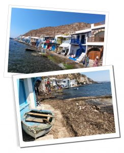 The beautiful colourful houses that sit directly on the shores of Klima, Greece