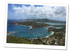 The breath taking views from the 'Goat track' above Shirley Heights, Antigua