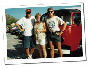 Andy & family, Puerto Alcudia, Majorca