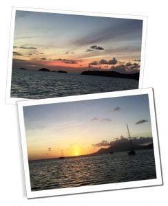 Sunset on the Caribbean Sea in Antigua
