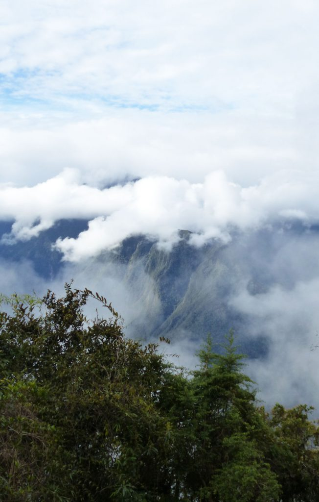 Clouds, trees and mountains on The Inca Trail, Peru
