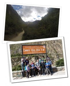 The start, Camino, Inka-Inka Trail, Peru