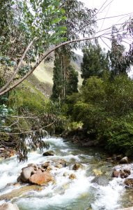 The river, bottom of the valley, Inca Trail