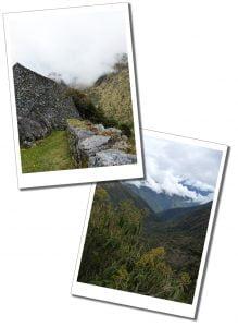 Beautiful, desolate and tranquil, views in the clouds Inca Trail, views, Peru.