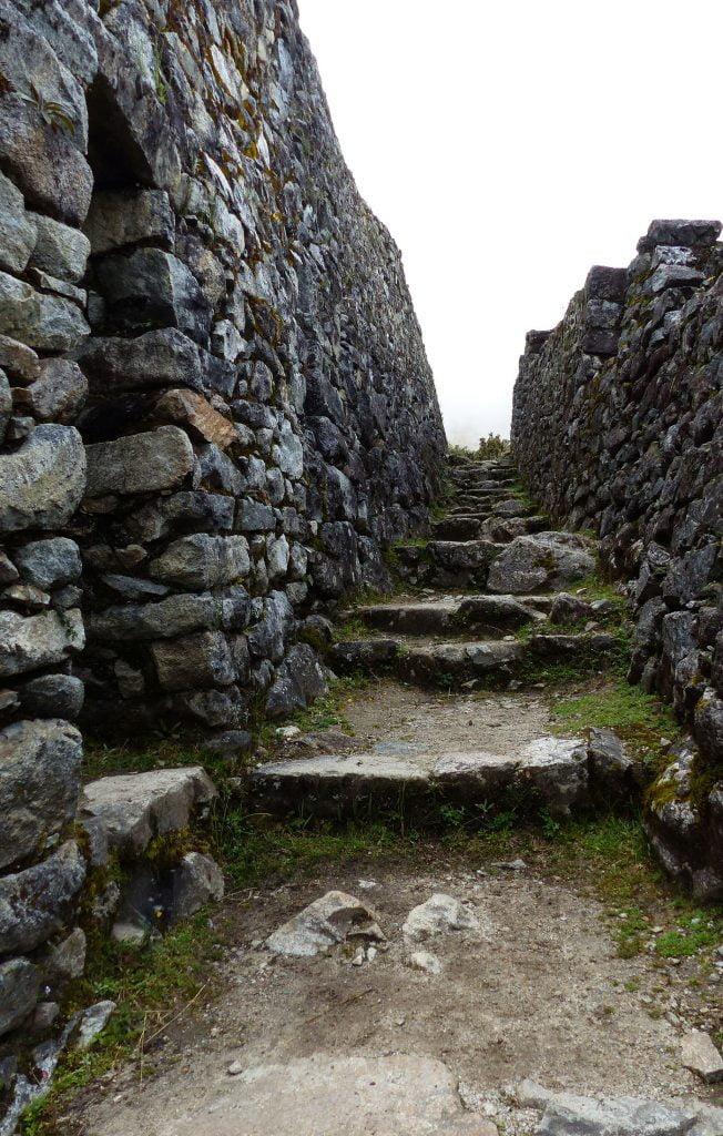 Stone walls and steps, Inca Trail, Peru