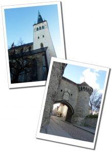 St Olaf's Church & Great Coast Gate, Tallinn, Estonia