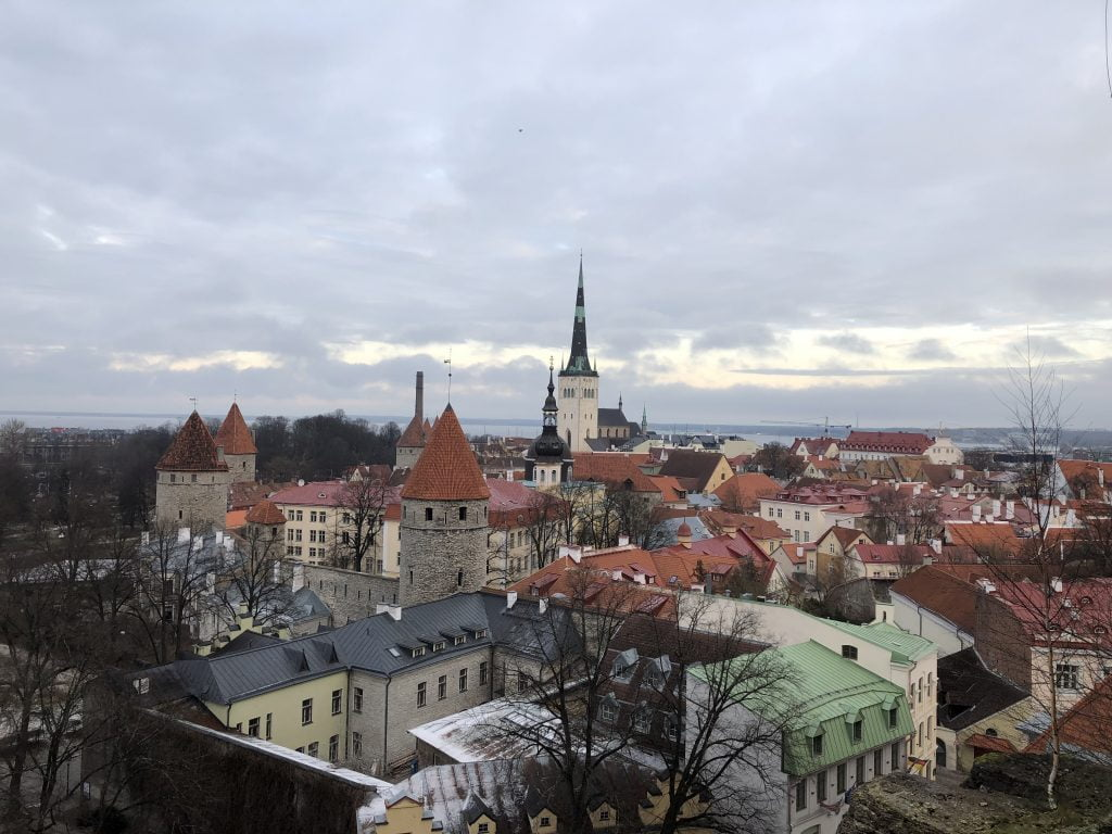 Viewpoint over old town, Tallinn, Estonia