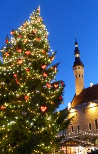 Christmas tree by the Town Hall, Tallinn, Estonia