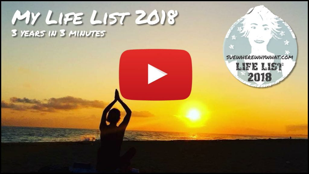 My Life List 2018 - 3 years in 3 minutes