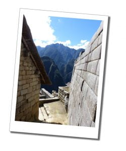 Within the perfectly preserved walls of the Inca buildings, Machu Picchu, Peru