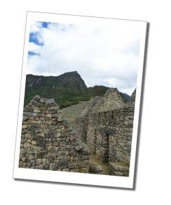 Inca buildings, Machu Picchu, Peru