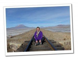 Train tracks in the Bolivian Desert - Travel For Singles Over 40