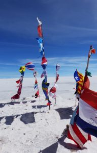 Uyuni Salt Flats, flags of the world