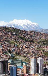 La Paz, Bolivia from Mirador Killi