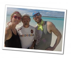 Suewherewhywhat and sailing crew, Normans Cay, Best of the Bahamas
